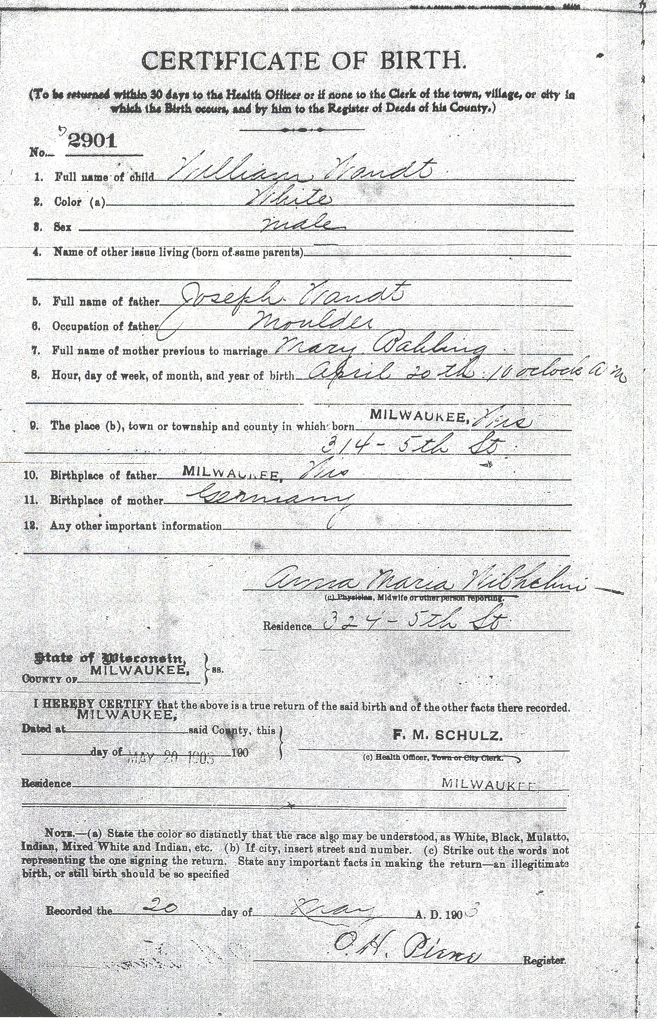 Birth records for wandt genealogy sources aiddatafo Image collections